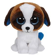 PELUCHE TY DUKE-DOG BROWN 15 CM
