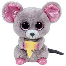 PELUCHE TY SQUEAKER MOUSE  15 CM