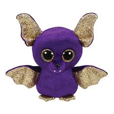 PELUCHE TY COUNT PURPLE BAT  15 CM