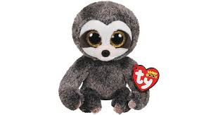 PELUCHE TY DANGLER GREY SLOTH  15 CM