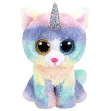 PELUCHE TY HEATHER CAT W HORN 15 CM