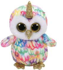 PELUCHE TY ENCHANTED OWL HORN 15 CM
