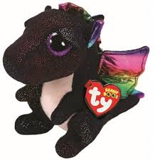 PELUCHE TY BLACK  DRAGON  15 CM