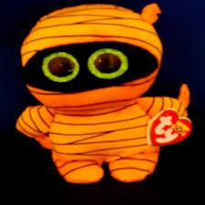 PELUCHE TY MASK ORANGE MUMMY  15 CM