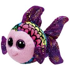 PELUCHE TY FLIPPY MULTI FISH  15 CM