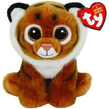 PELUCHE TY BOOM BOOM BROWN TIGER  15 CM