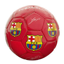 BALON MEDIANO FCB ROJO BRILLANTE