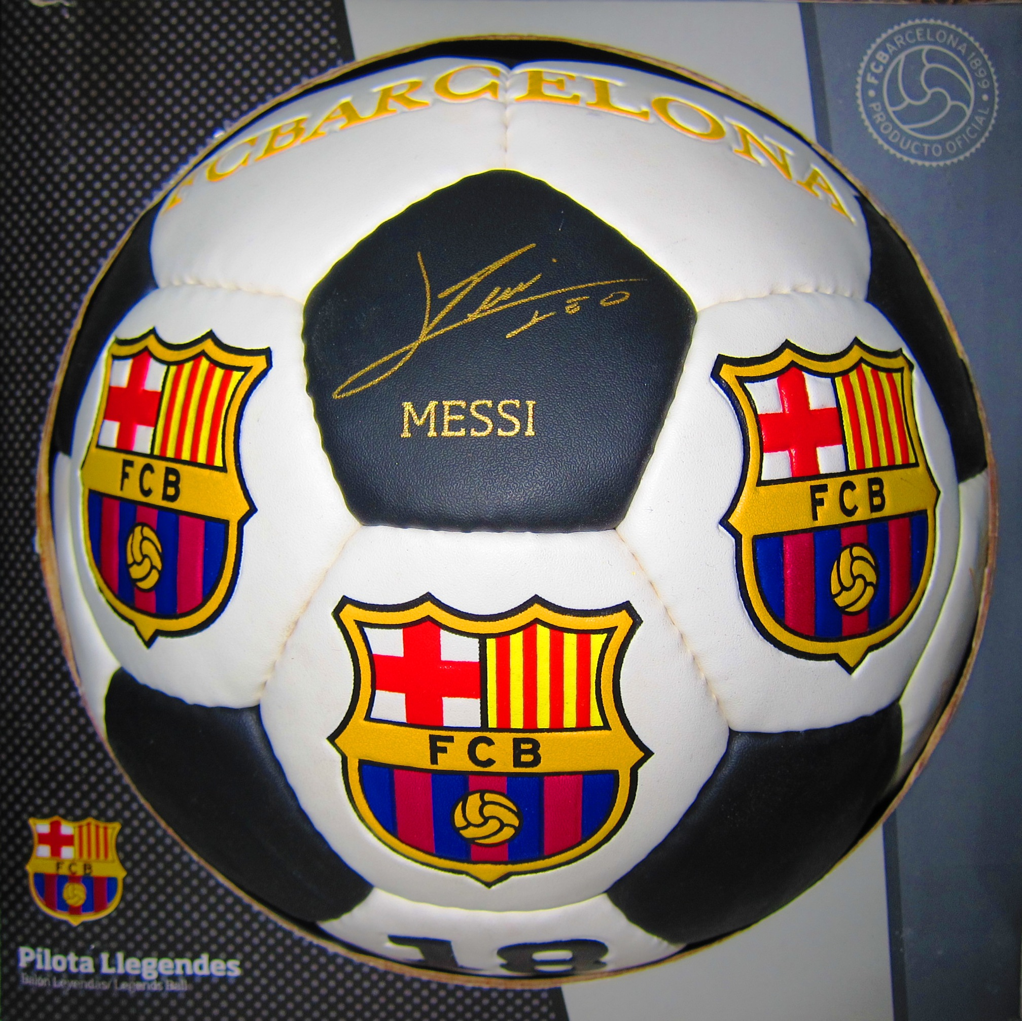 BALON GRANDE FCB LEGENDS (BLANCO)